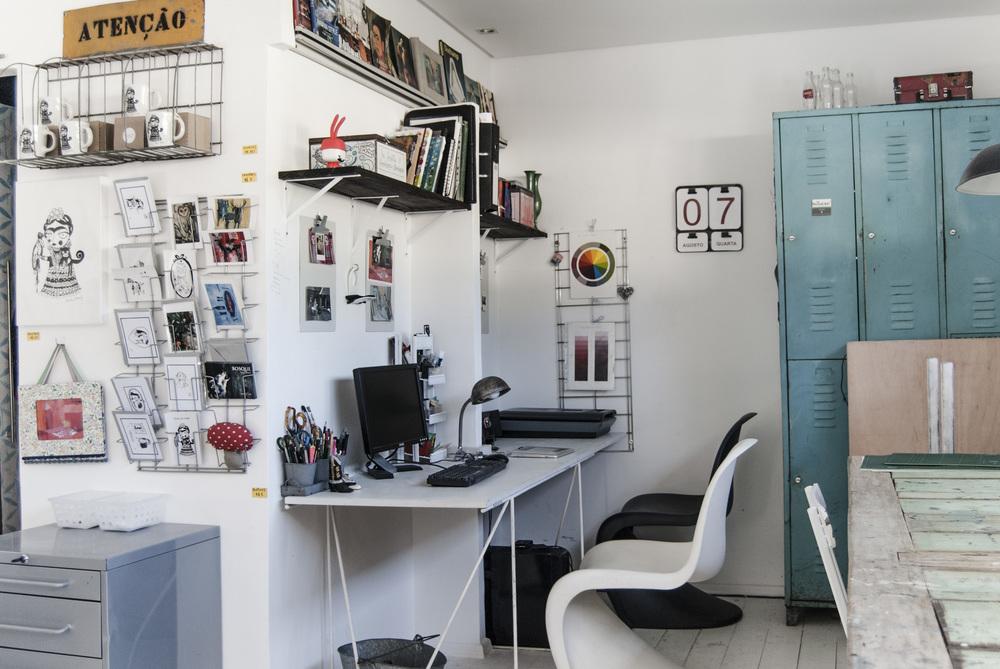 Open Studio – o ateliê da artista – compartilhado com a amiga e partner Sonia Tuyama