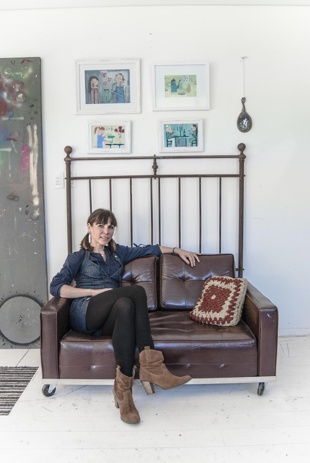 Anita Damas no Open Studio – o ateliê da artista.