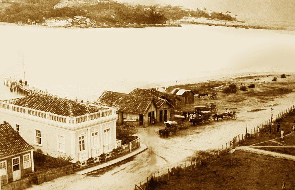 Florianópolis antes da Ponte Hercílio Luz