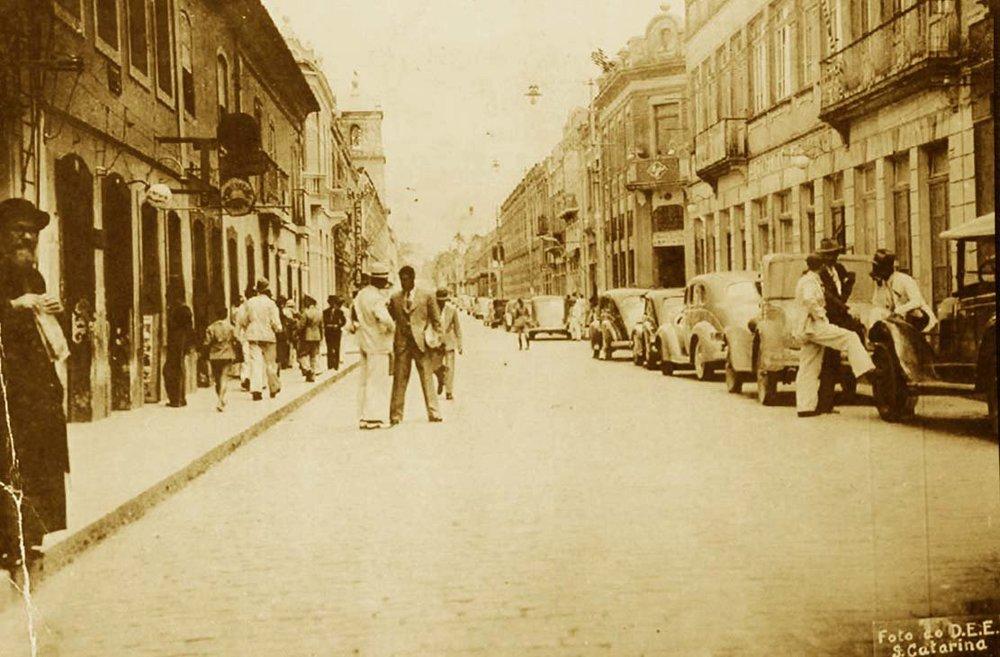 Vista da rua Felipe Schmidt