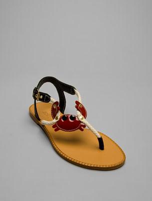 Weird crab sandals