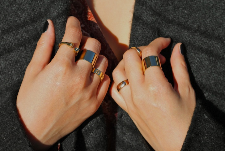 Melinda Maria, Maison Martin Margiela, and Cartier rings