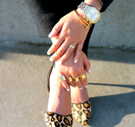Michele watch ,  Anarchy Street bracelet ,  Maison Martin Margiela ,  Cartier ,  Baublebar ,  Brandy Pham  rings