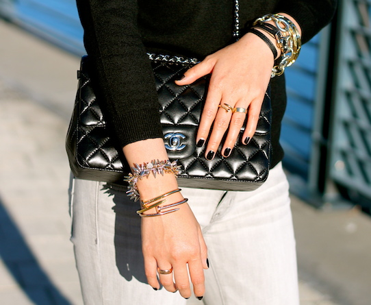 Anarchy Street, Stella and Dot, House of Harlow and David Yurman bracelets, Anarchy Street and Cartier rings