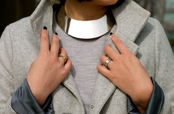 Giambattista Valli necklace, Cartier and my own rings