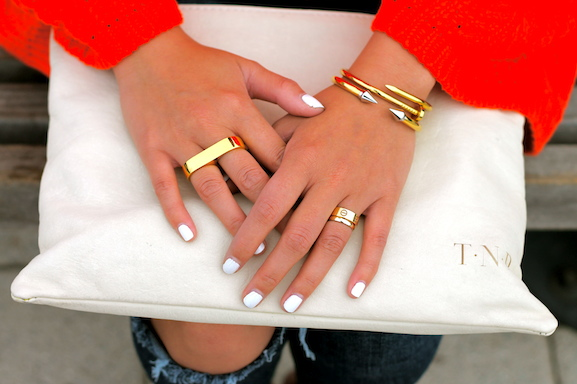 Erica Anenberg , Cartier rings,  Vita Fede  and  Anarchy Street  bracelets