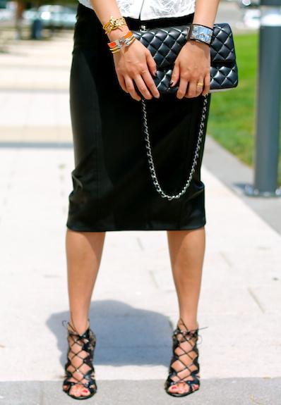 Svelte Metals, Hermes, and Vita Fede bracelets, Chanel bag
