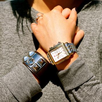 Hermes bracelet, Michele watch
