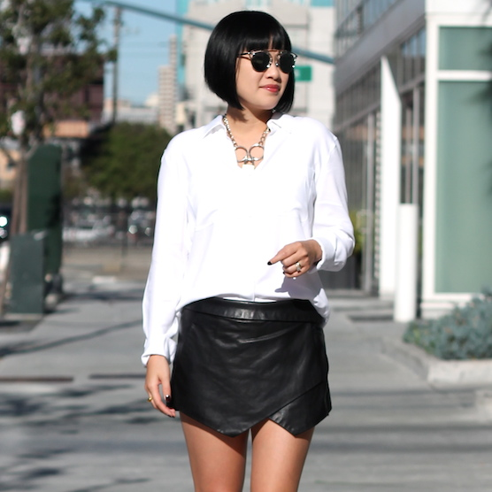 Talula shirt  and  skort ,  Rodarte necklace ,  Dior sunglasses