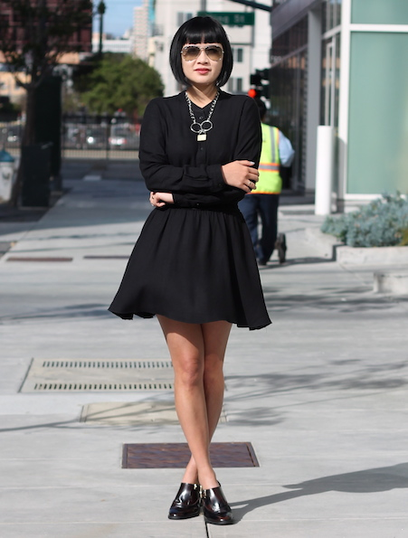 Talula dress ,  shoes c/o Miista ,  Rodarte necklace , Ray-Ban sunglasses
