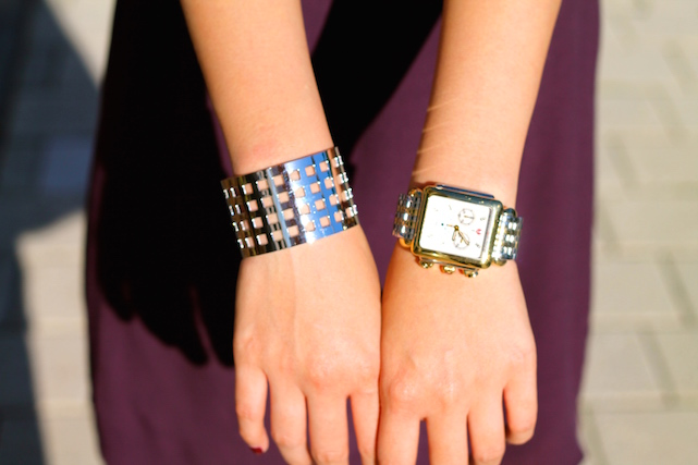 Svelte Metals cuff ,  Michele watch
