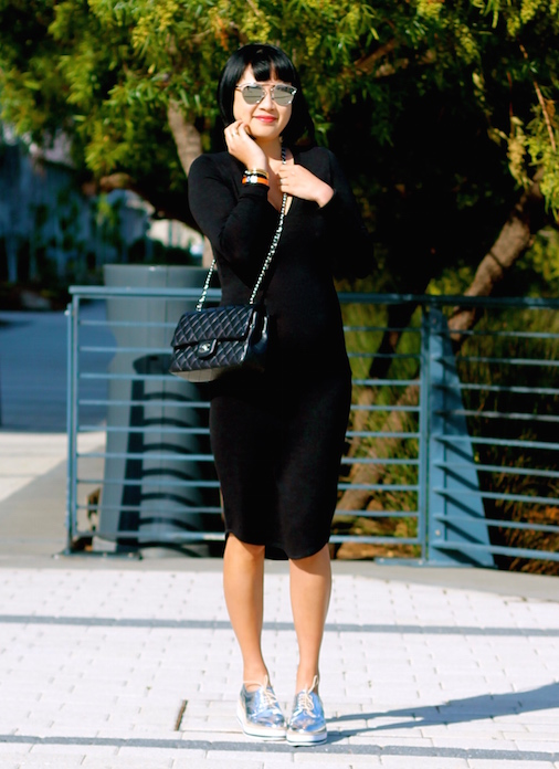 Aritzia dress, Zara shoes, Dior sunglasses, Chanel bag