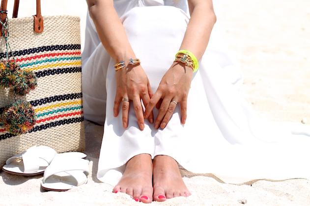 Vita Fede  and  Svelte Metals bracelets , Cartier ring