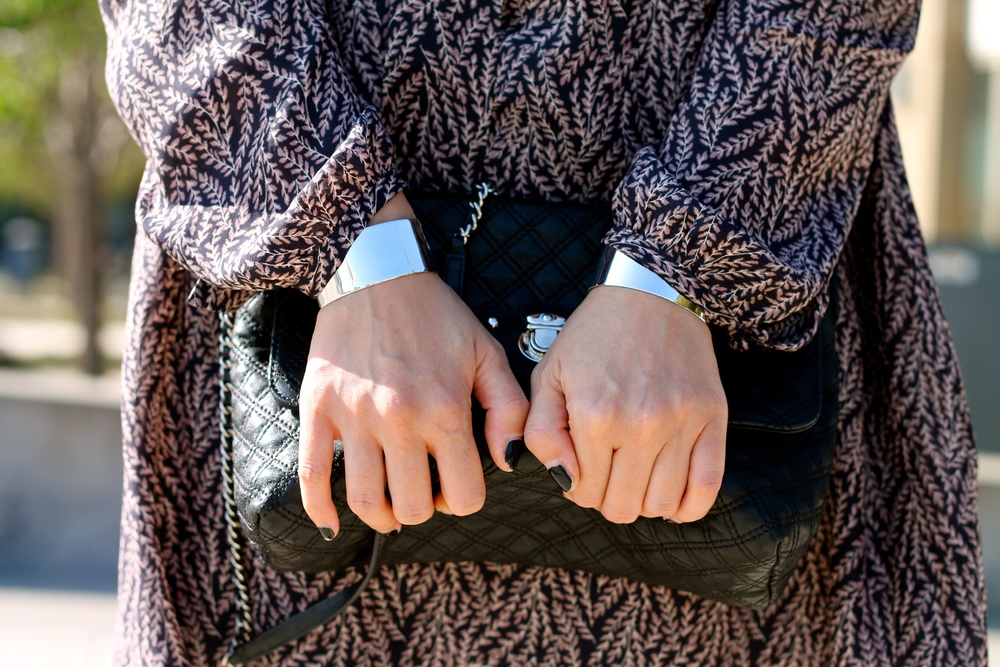 Svelte Metals cuffs, Marc Jacobs bag,