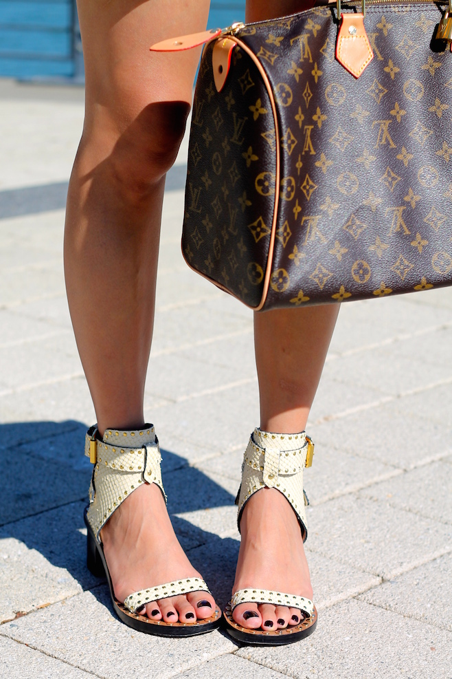 Isabel Marant shoes, LV bag