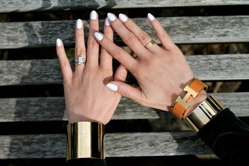 Svelte Metals and Hermes bracelets, Cartier and my own ring