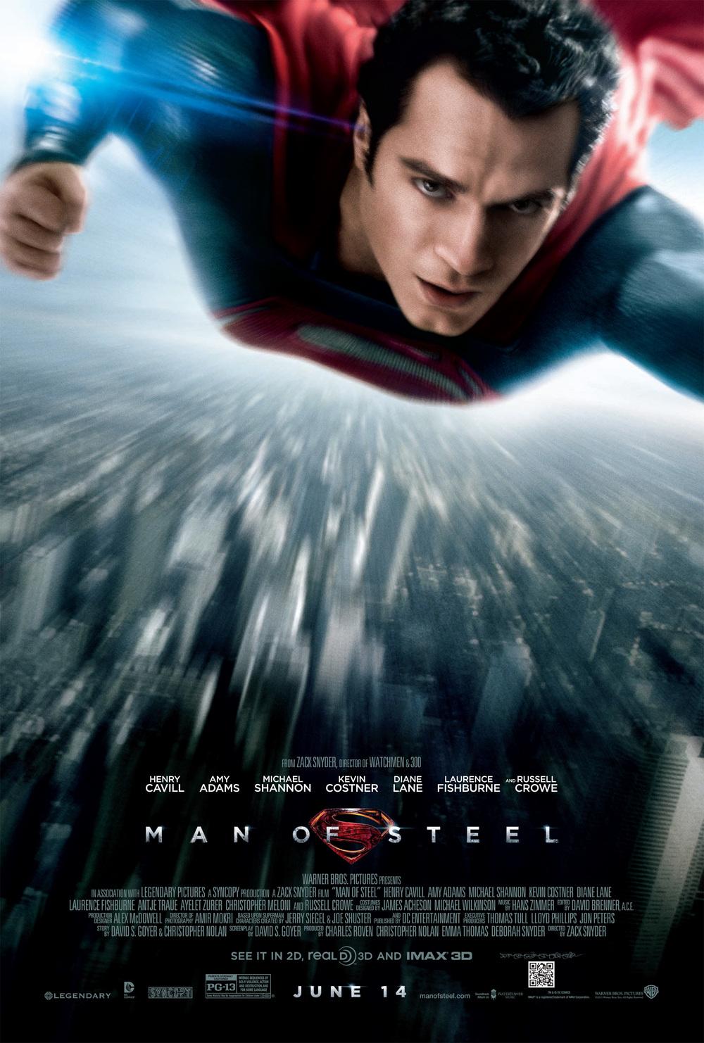 "Henry Cavill as the ""Man of Steel"" CREDIT: manofsteel.warnerbros.com"