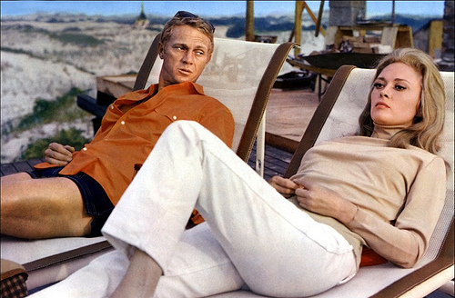 "Steve McQueen and Faye Dunaway in ""The Thomas Crown Affair"" (1968)"