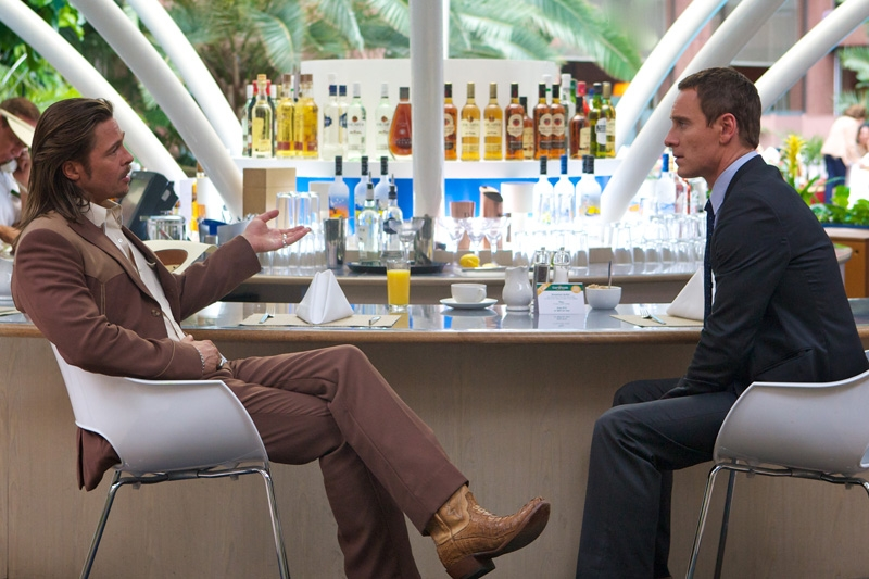 "Brad Pitt and Michael Fassbender in ""The Counselor"""