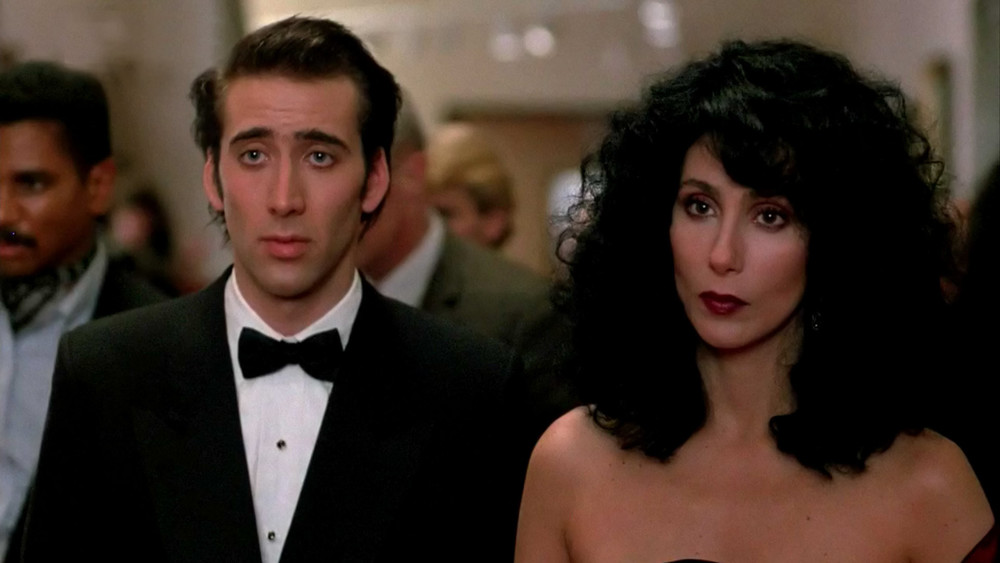 "Nicolas Cage and Cher in ""Moonstruck"""