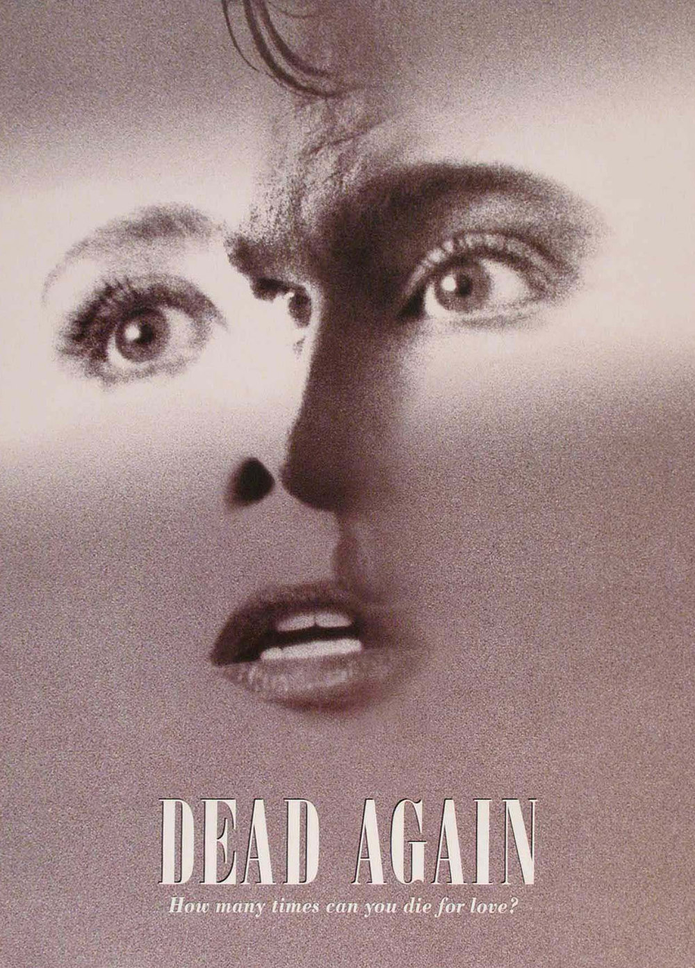 "Poster for Kenneth Branagh's 1991 romantic thriller ""Dead Again"""