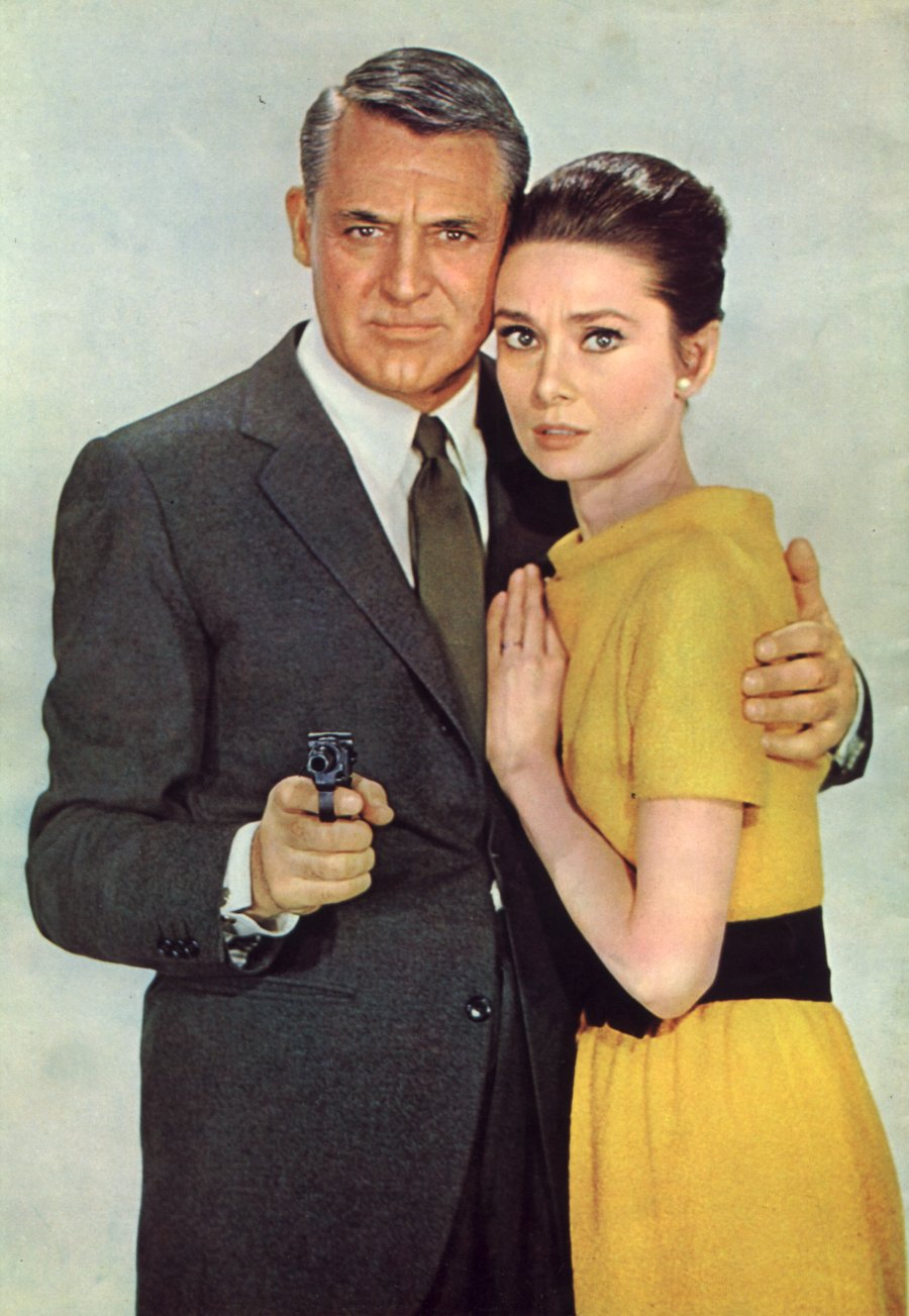 "Cary Grant and Audrey Hepburn in ""Charade"" publicity shot"