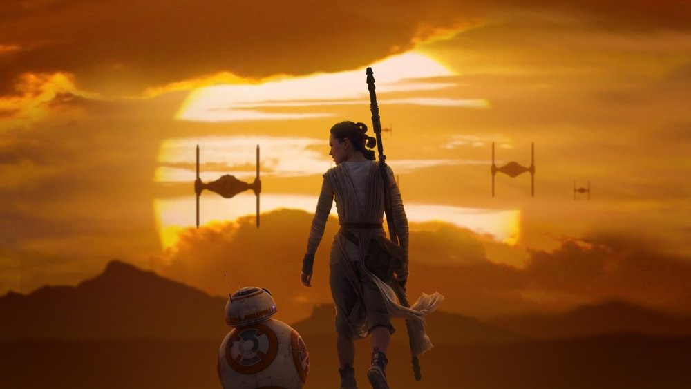 "Daisy Ridley as ""Rey"" and BB-8"