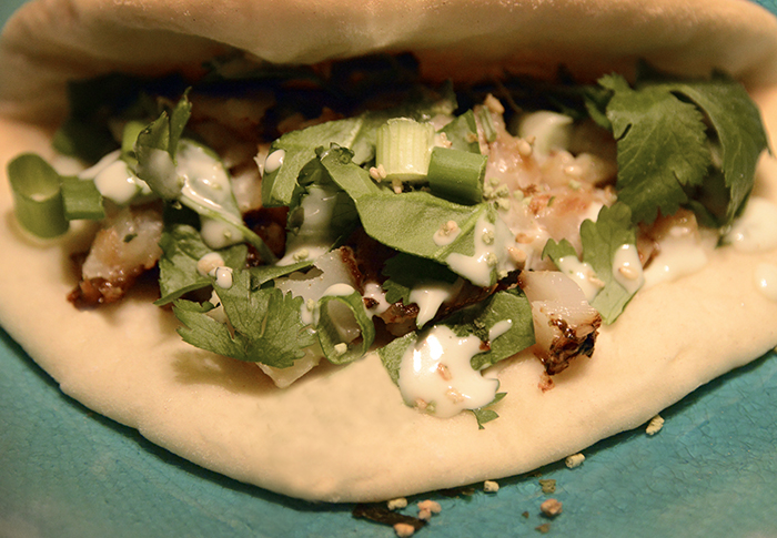 Mame inspired fish tacos