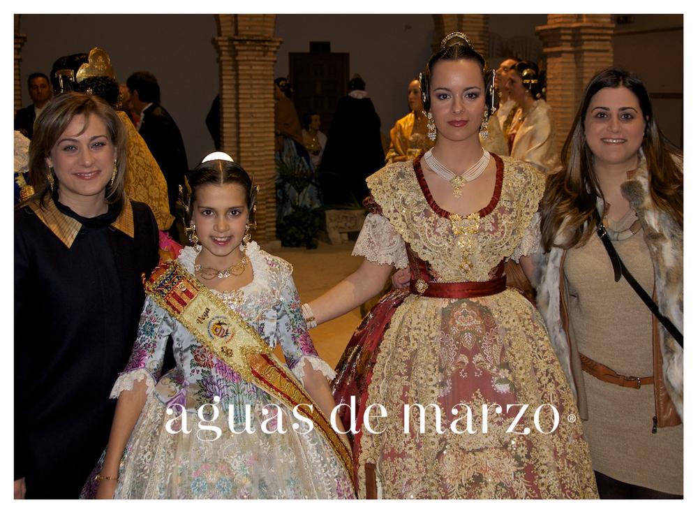 De izqda. a dcha. Maria Aguas (Aguas de Marzo), Vega Aparicio Garcia (FMI), Cristina Aparicio Garcia (FM) y Fatima Aguas (Aguas de Marzo)
