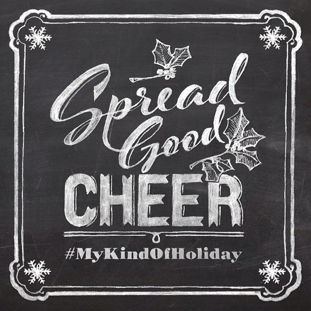 The holidays are all about pitching in. Post a pic of your good deeds and tag it  #MyKindOfHoliday  . Per usual, we'll regram our favorites!