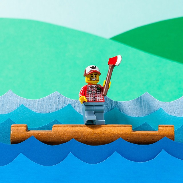 Do not try this at home. Unless you're   @lego  . Or a lumberjack. (Axe added for dramatic effect.)