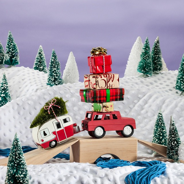 Over the river and through the woods, with presents in tow you go.  #MerryChristmasEve  !