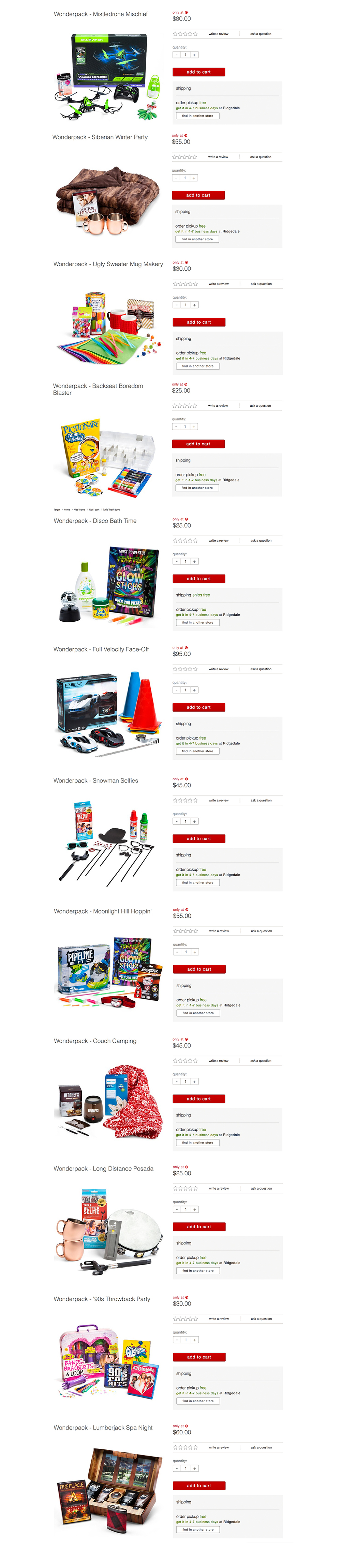 I had the ability to control what the Target.com image looked like, allowing me to clearly showcase what products come in each Wonderpack.