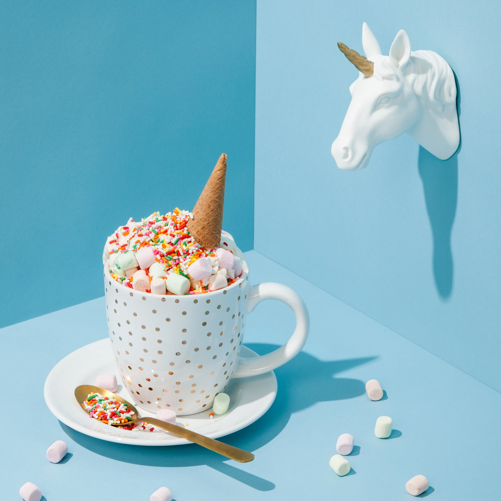 The legends are true. Unicorn hot chocolate is for real! ☕️: @cremeandsugaroc