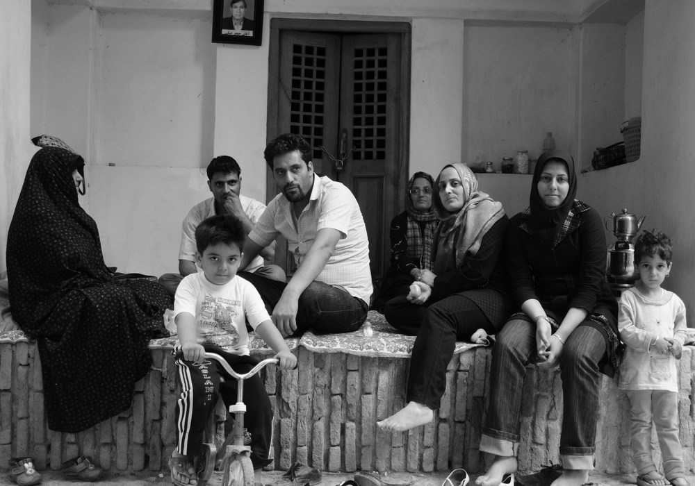 Family during the Persian New Year, Kashan, Iran