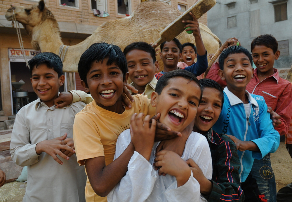 Boys Playing, Jaipur, India