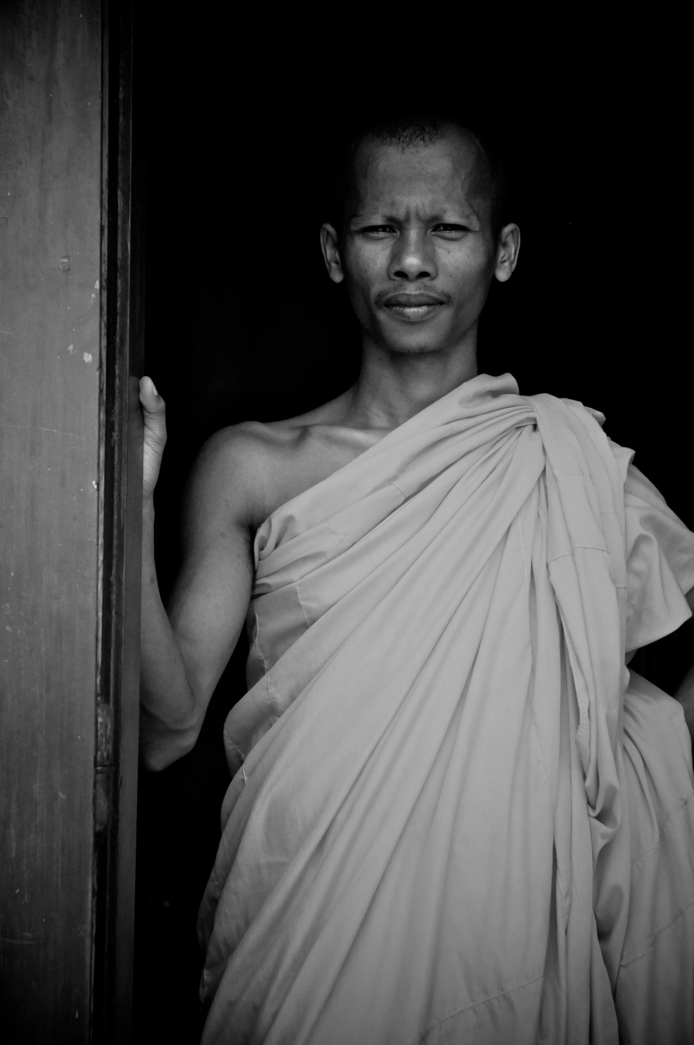 Monk at Wat Ounalom, Phnom Penh, Cambodia
