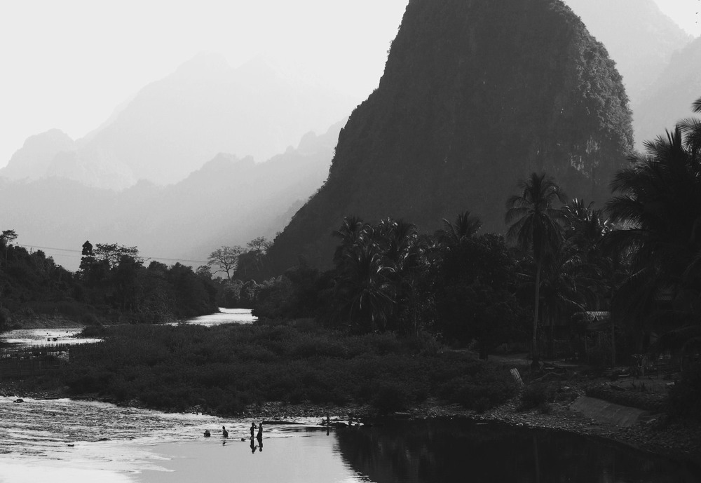Nam Song River, Vang Vieng, Laos