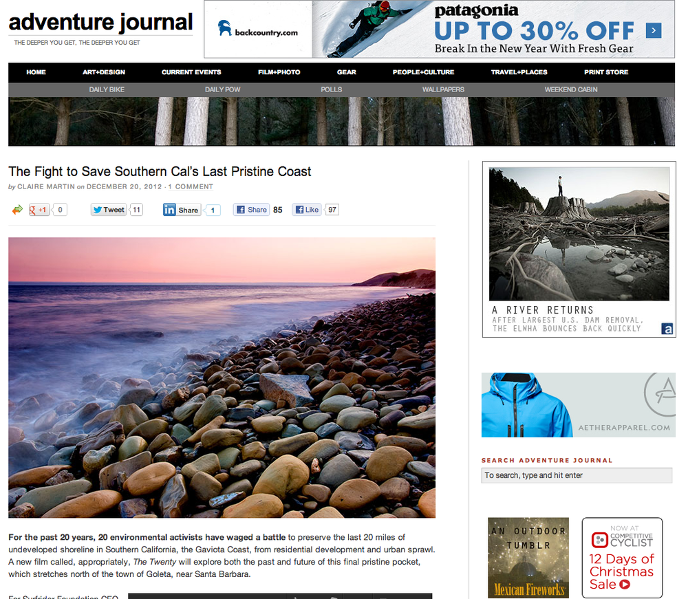 Adventure-Journal.com screenshot