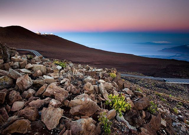 The other view from Haleakala at sunrise 🌅 #haleakalanationalpark #haleakalasunrise #maui #hawaii