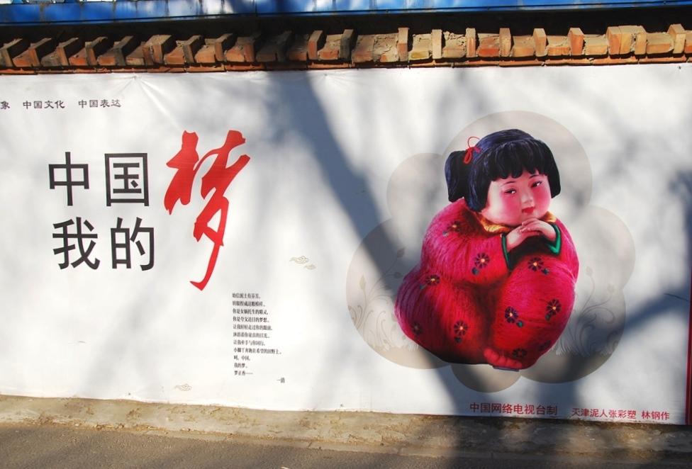 """""""Le rêve chinois. Mon rêve."""" Affiche officielle de la campagne. Photo Joyce Lee"""