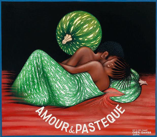 ® Amour & Pastèque, 1984 © Chéri Samba — Photo © Florian Kleinefenn