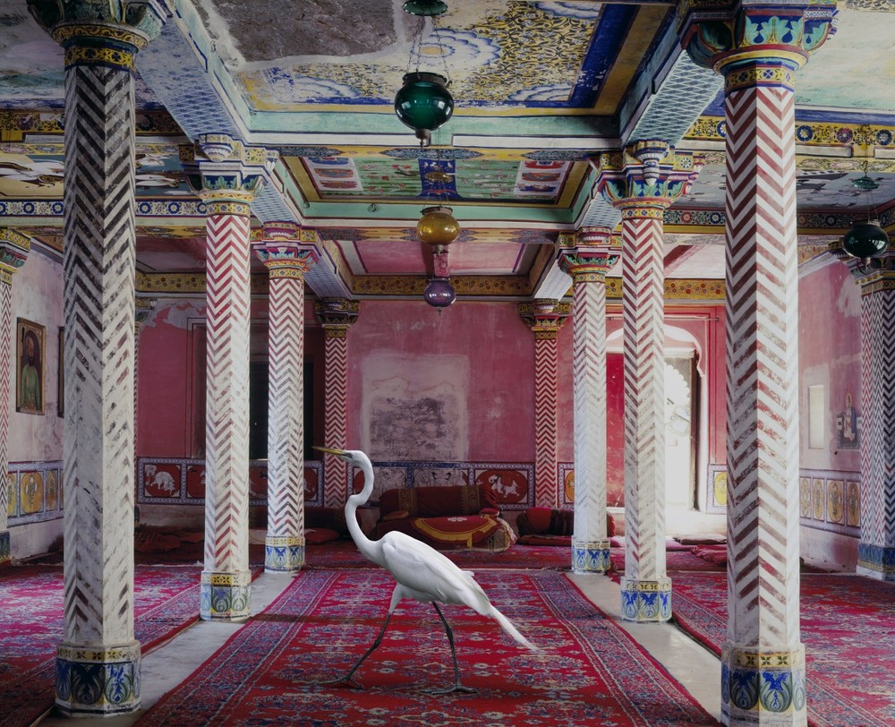 ® Karen Knorr - India Song   The Flight to Freedom, Durbar Hall, Juna Mahal, Dungarpur