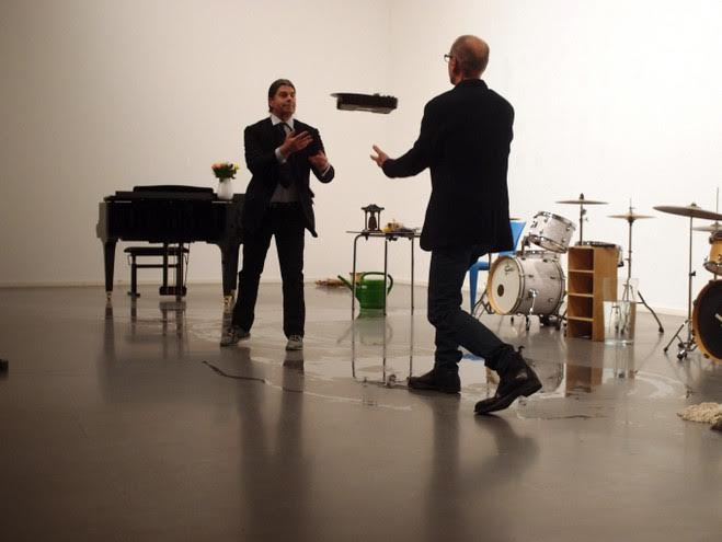 Christian Marclay & John Armleder, Simultaneous Duo Version, 2014 © Catherine Ceresole