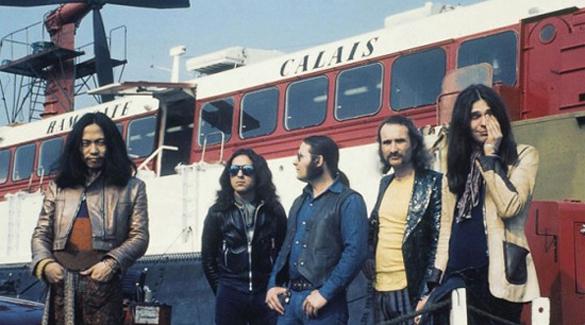 Can avec Damo Suzuki, Jacky Liebezeit, Irmin Schmidt, Holger Czukay et Michael Karoli