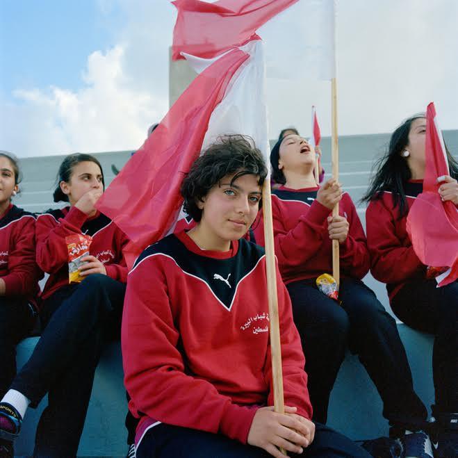 Amélie Debray, Spectatrices du stade AlBireh de Ramallah, Palestine, 2011 © Amélie Debray,Courtesy Galerie du Jour Agnès b, Paris