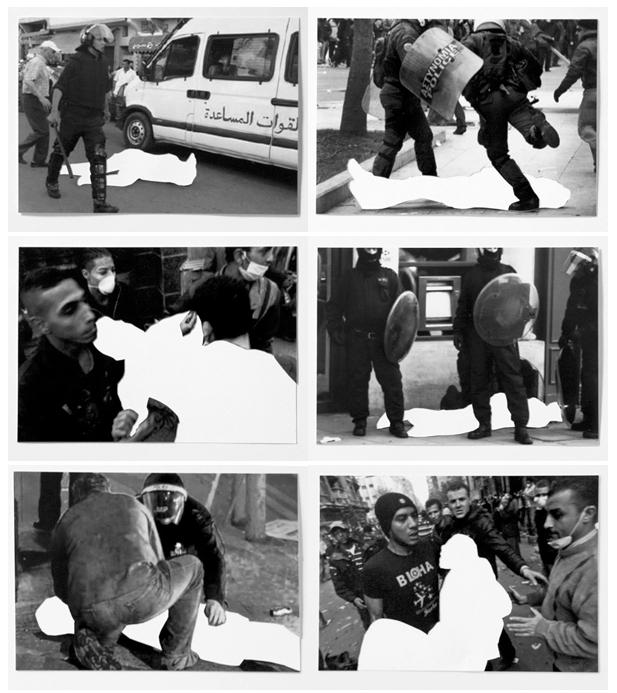 Les disparus, 2011-2015 (extrait)   50 photographies numériques, papier, cadres.