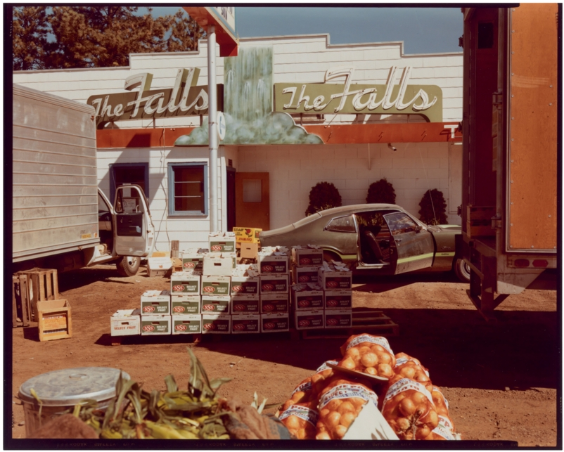 Stephen Shore   TWELVE PHOTOGRAPHS   Chromogenic prints.   1976.      Portfolio with 12 color photographs. Signed in ink   Stephen Shore  , numbered   I   through   XII   and editioned   Ex. 39/50   on the verso. Edition from MOMA, New York, 1976. In original linen clamshell box.