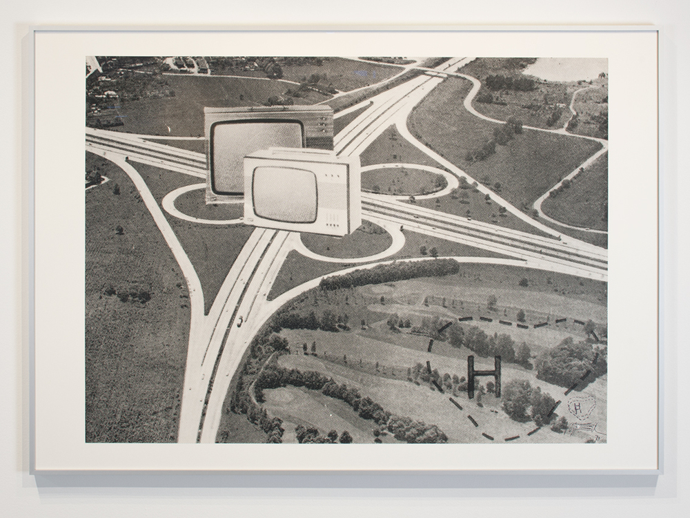 'Autobahnkreuz TV', by Wolf Vostell, 1970. Courtesy of Sammlung René Block