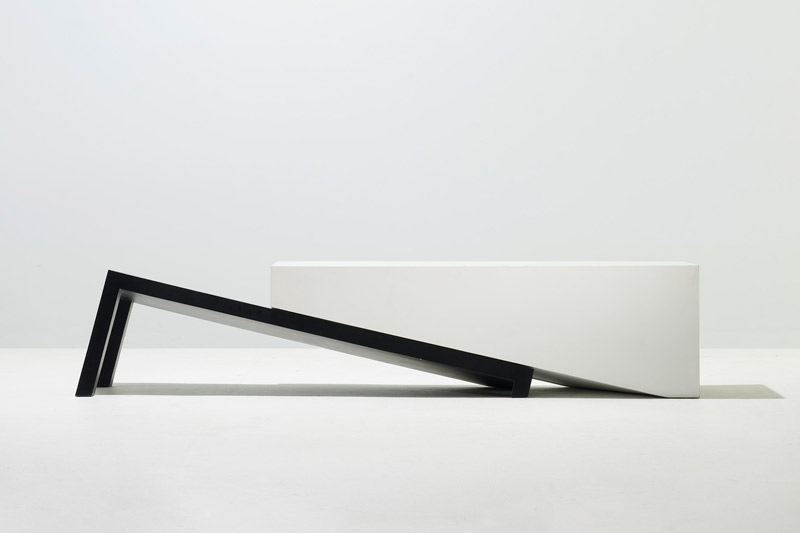 """Slip Bench  2010 Wood, lacquer 18"""" x 86"""" x 18"""" (H x W x D) Edition of 10"""